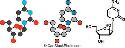 Cytarabine cytosine arabinoside, Ara-C chemotherapy drug...