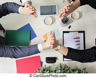 Teamwork in the workplace - Image of teamwork in the modern...