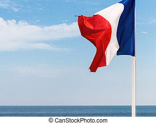 national flag of france, symbolic photo for patriotism,...