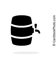Beer barrel simple icon on white background.