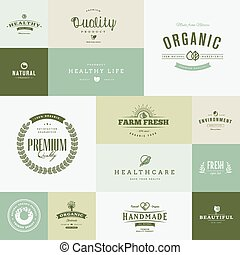Flat design nature icons