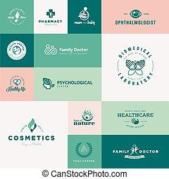 Flat design healthcare icons