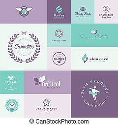 Set of beauty and healthcare icons