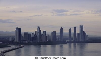 Panama City Buildings Traffic Cars - Central America and...