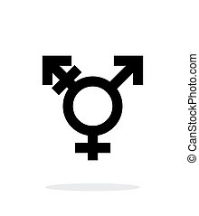 Transgender icon on white background. Vector illustration.