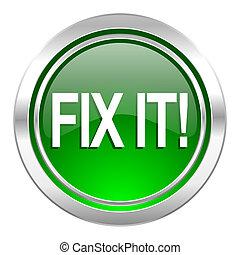 fix it icon, green button