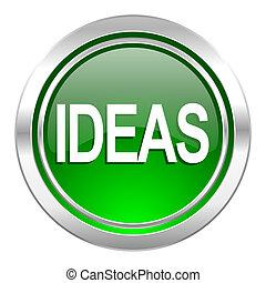 ideas icon, green button
