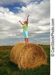 Praying Farm Girl