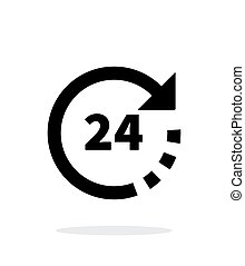 Round-the-clock icon on white background. Vector...