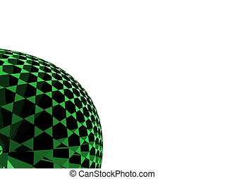 abstract sphere - 3d rendered illustration of a black and...