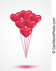 Pink heart Valentine balloons background colorful...