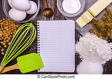 Baking Ingredients from Above - Ingredients for making...