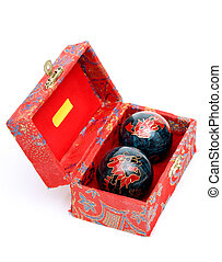 chinese balls - chinese hand massage balls in a decoration...