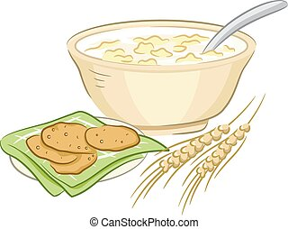 Oatmeal Clipart and Stock Illustrations. 474 Oatmeal ...