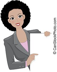 Girl Business Board - Illustration Featuring an...