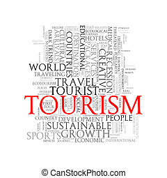 Word tags wordcloud of tourism