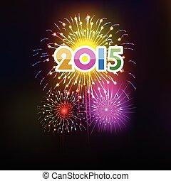 szczęśliwy, nowy, rok, 2015, Z, fireworks, ,