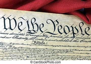 US Constitution - We The People - Preamble to the...