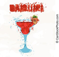 Strawberry daiquiri - Frozen strawberry daiquiri alcohol...