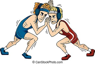 Greco-Roman Wrestling Grappling - Illustration Featuring...