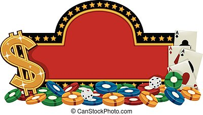 Casino Banner - Banner Illustration Featuring a Casino Sign...