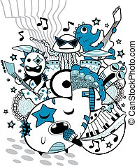 Doodle Monster Band