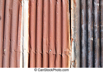 old zinc wall. - old zinc wall for the background.