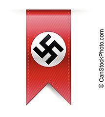 nazi german swastika hanging banner illustration design over...