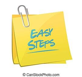 easy steps post it memo illustration