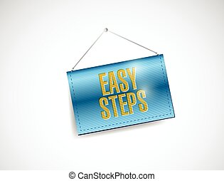 was steps hanging banner illustration design