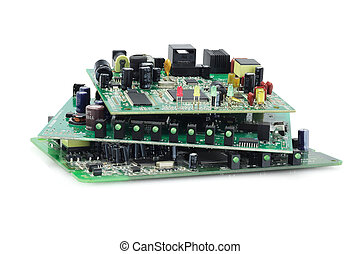Electronic Circuit Boards - Stack Of Electronic Circuit...
