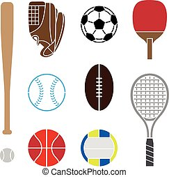 Sport Equipment vector and icon set great for any use.