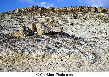 Limestone mount in Turkey