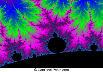 Fractal Power - a digitally generated colorful fractal...