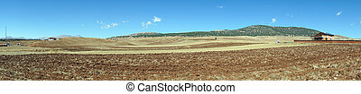 Plowed land in Turkey