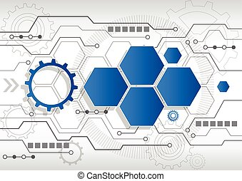 New abstract technology business background, vector...