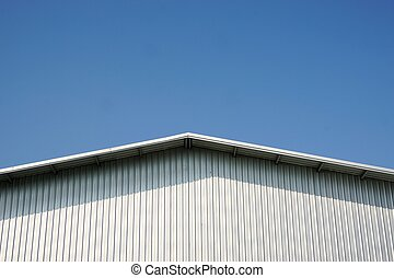 roof matel sheet with the blue sky