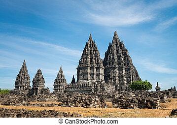 Prambanan temple, Java, Indonesia - Candi Prambanan or Candi...