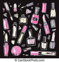 Cosmetics Makeup set - Makeup products set Cosmetics Hand...