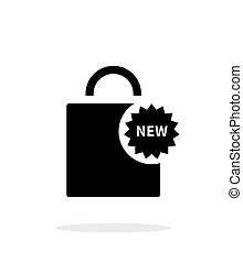 New shopping bag simple icon on white background. Vector...