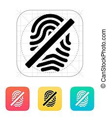 Fingerprint rejected icon.