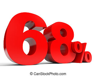 Red sixty eight percent off Discount 68 3D illustration