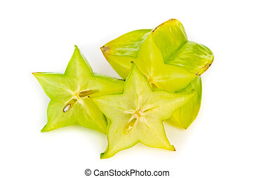 carambola isolated on a white background