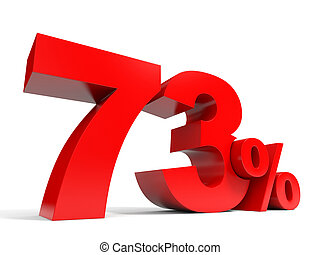 Red seventy three percent off. Discount 73%. 3D...