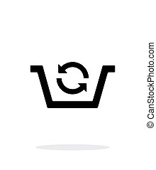 Shopping basket exchange simple icon on white background...