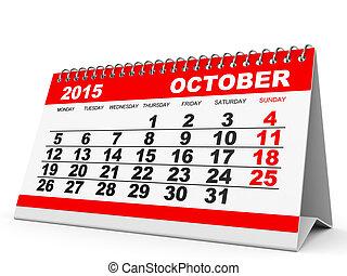 Stock Illustrations of October 2015 calendar - October 2015 ...