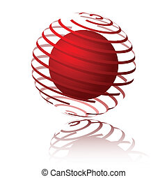 Sphere spiral - Spiral sphere design. Available in jpeg and...