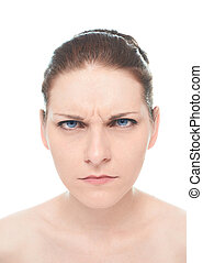 Young caucasian woman portrait isolated - Young caucasian...