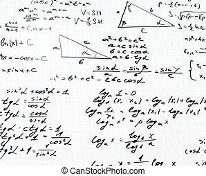 trigonometría, matemáticas, ecuaciones, y,...