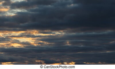 Purple and gold cloud sunset - Sunset in Muskoka, Ontario,...